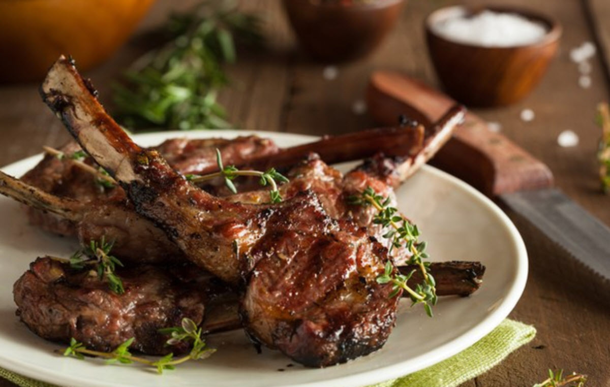 Grilled lamp chops